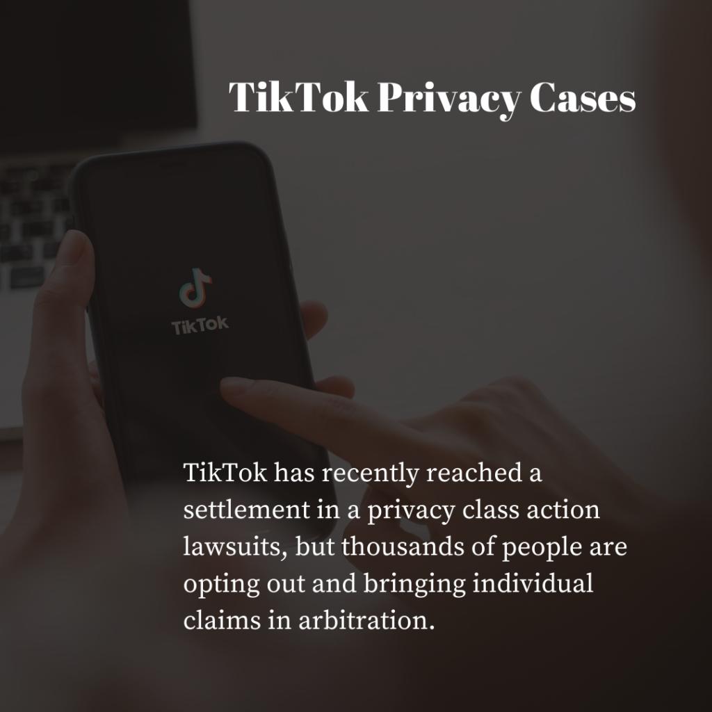 TikTok Privacy Cases Marketing